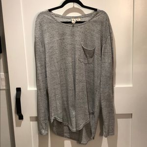 Long Sleeve scoop cut shirt